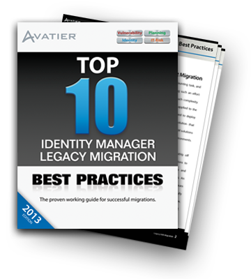 top 10 identity manager migration best practices