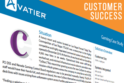 The Cosmopolitan of Las Vegas Reduced their Support Calls by Over 30% with Avatier's Self-Service Password Management and User Provisioning Solutions