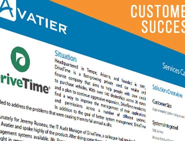 DriveTime Automates Between 40-45% of the Help Desk Tickets Each Month With Avatier Identity Management Suite