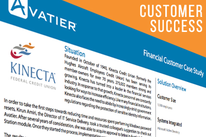Kinecta Achieved a Six-Figure Savings in Less Than a Year With Avatier's Password Reset Solution