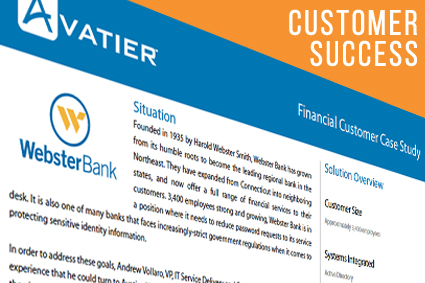 Webster Bank Saw Immediate Results with a 70% Decrease in Password Reset Requests
