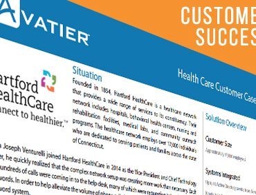 Hartford HealthCare Sees a Reduction in Help Desk Staff by 30% Within Two Years Using Avatier's Password Station