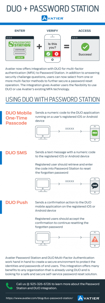 DUO Avatier Password Station Infographic